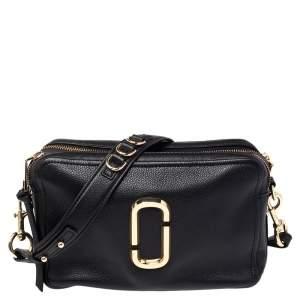 Marc Jacobs Black Leather The Softshot 27 Shoulder Bag