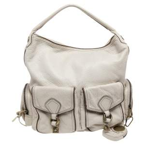 Marc By Marc Jacobs White Leather Blake Hobo