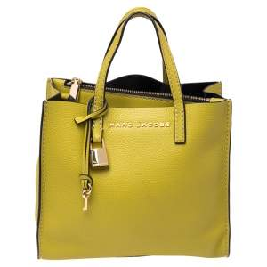 Marc Jacobs Lime Green Leather Mini Grind Tote