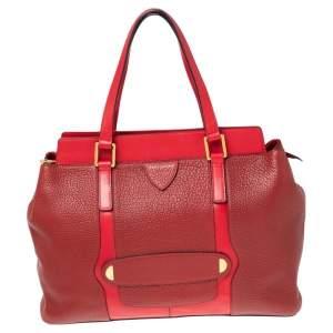 Marc Jacobs Red Leather Zip Satchel