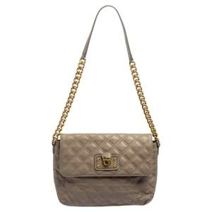 Marc Jacobs Taupe Leather Day To Night Single Shoulder Bag