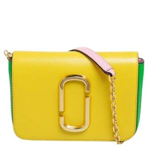 Marc Jacobs Tri Color Leather Snapshot Chain Belt Bag