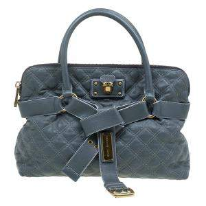 Marc Jacobs Grey Quilted Leather Bruna Belted Tote