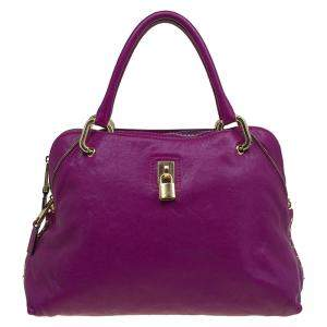 Marc Jacobs Purple Leather Paradise Little Janice Satchel