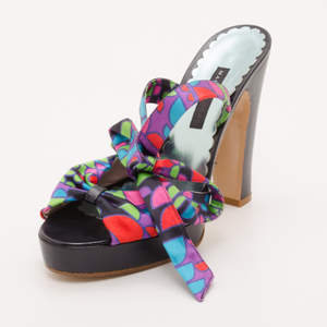 Marc Jacobs Multicolor Printed Sandals Size 38