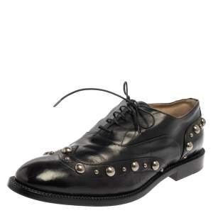 حذاء أوكسفورد جورجيو أرماني رباط علوي جلد بني مقاس 44