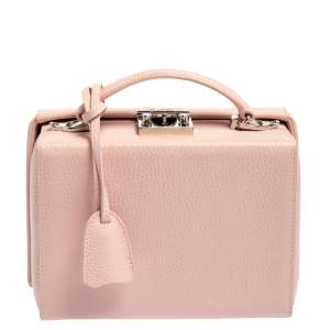 Mark Cross Light Pink Leather Small  Grace Box Bag