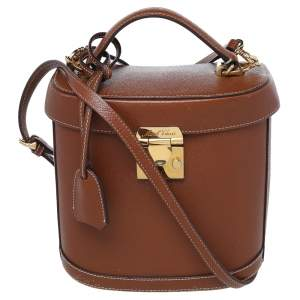 Mark Cross Brown Leather Benchley Top Handle Bag