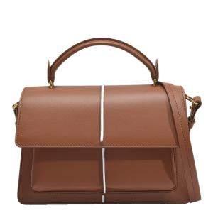 Marni Maroon/Brown Calfskin Leather Bag