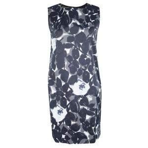 Marni Abstract Floral Print Sleeveless Drop Waist Shift Dress M