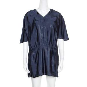 Marni Navy Blue V-Neck Dolman Sleeve Mini Dress M