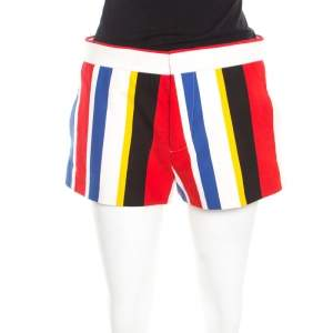 Marni Multicolor Wide Striped Cotton Shorts S
