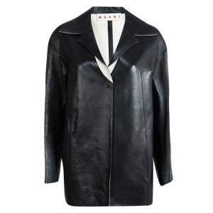 Marni Black Leather Jacket S