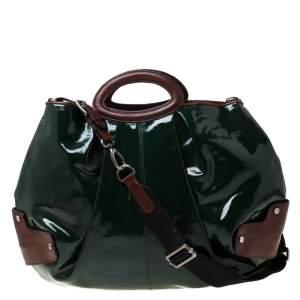 Marni Green/Brown Patent Leather New Balloon Hobo