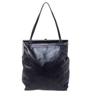 Marni Black Leather Frame Bag