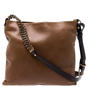 Marni Brown Leather Messenger Bag