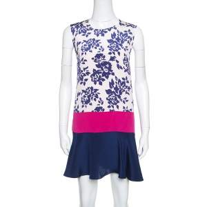 Mary Katrantzou Colorblock Rosario Print Sleeveless Antona Shift Dress M