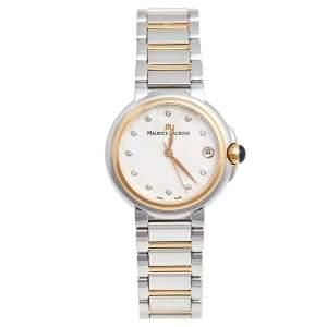 ساعة يد نسائية موريس لاكروا فيابا FA1004 ألماس ستانلس ستيل لونين فضية 32 مم