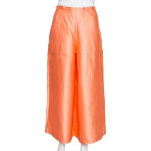Max Mara Peach Silk High Waist Palazzo Pants S
