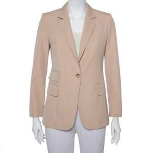 Max Mara Beige Wool Button Front Unno Blazer S