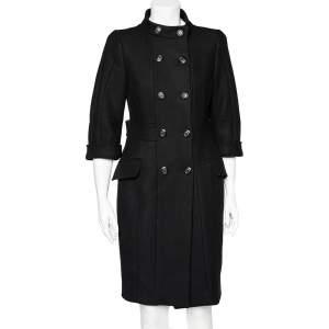 Max Mara Black Wool Double Breasted Coat S