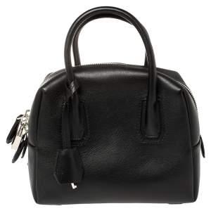 حقيبة إم سي إم بوسطن جلد سوداء