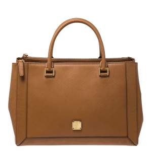MCM Brown Leather Large Nuovo Tote