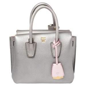 حقيبة يد أم سى أم ميلاا مينى جلد فضية