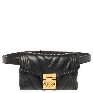 MCM Black Quilted Leather Patricia Belt Bag