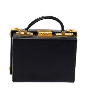 MCM Black Leather Berlin Box Bag