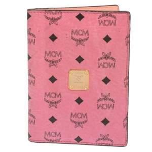 MCM Pink Leather Visetos Passport Holder