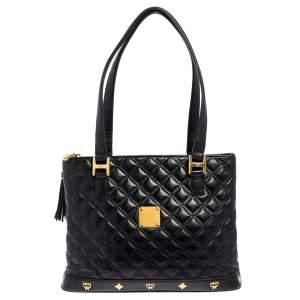MCM Black Quilted Leather Shoulder Bag