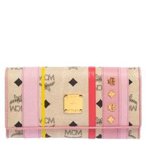 محفظة إم سي إم كانفاس فيستوس مقوى وجلد متعدد الألوان ثلاثية الطي