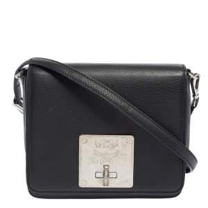 MCM Black Leather Mona Crossbody Bag