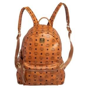 حقيبة ظهر أم سي أم ستارك كبرة جلد فيستوز بني