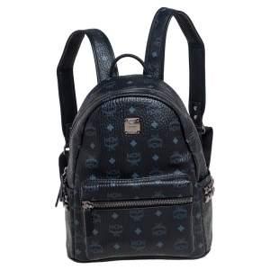 حقيبة ظهر إم سي إم ستارك كانفاس فيستوس مقوي أسود مرصع ة بأزرار جانبية