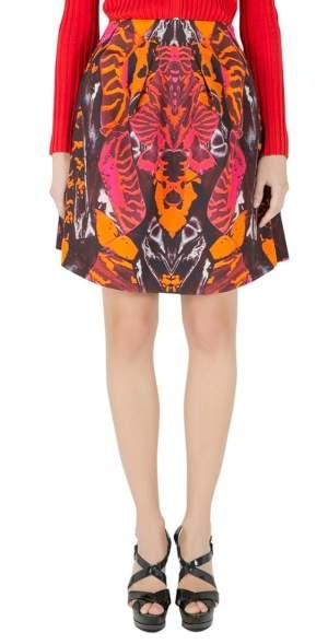 McQ by Alexander McQueen Multicolor Kaleidoscopic Beetle Print A Line Skirt S