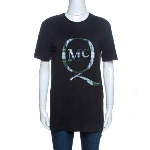 McQ by Alexander McQueen Black Logo Patch Detail T-Shirt XS