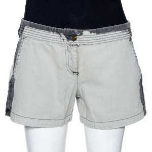 McQ by Alexander McQueen Grey Denim Back Cutout Detail Shorts M