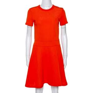 McQ by Alexander McQueen Orange Knit A Line Dress S