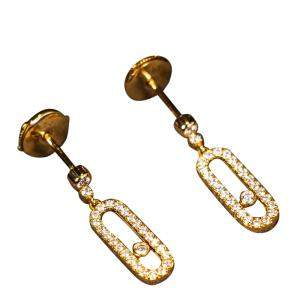 Messika Move Uno 18K Yellow Gold Diamonds Stud Earrings