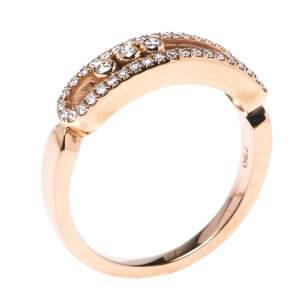 Messika Baby Move Pave Diamond 18K Rose Gold Ring 54.5