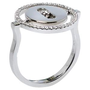 Messika Lucky Move Diamond 18K White Gold Ring Size 50.5