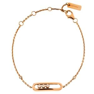 Messika Baby Move Diamond 18K Rose Gold Bracelet