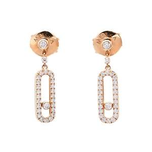 Messika Move Uno Diamond 18K Rose Gold Earrings