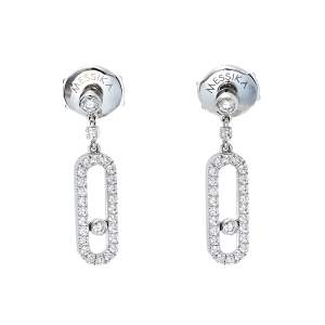 Messika Move Uno Stud Diamond 18K White Gold Earrings