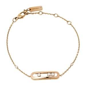 Messika Baby Move Diamond 18K Rose Gold Bracelet