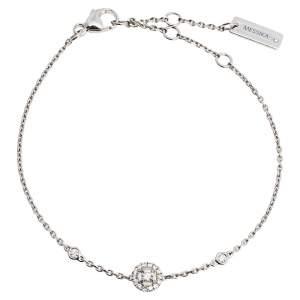Messika Joy Diamond 18K White Gold Charm Bracelet XS