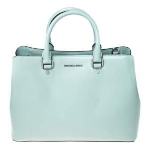 حقيبة يد مايكل مايكل كورس Savannah Celadon جلد خضراء ليمونية
