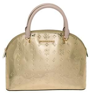 MICHAEL Michael Kors Metallic Gold Mirror Leather Emmy Dome Satchel